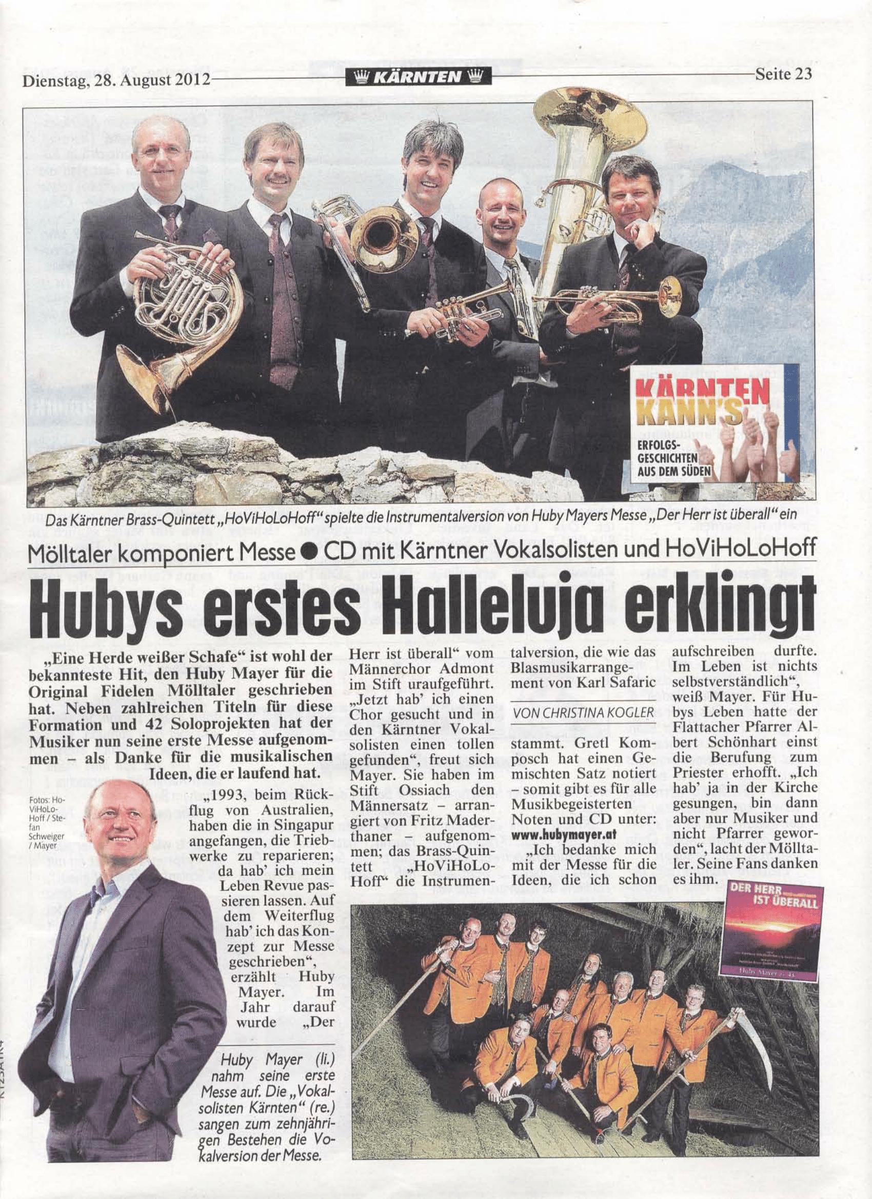 Hubys erstes Halleluja erklingt-1